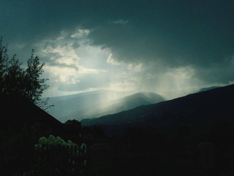 Colours Mountain Silhouette Scenics Tranquility Landscape Sky Rain Beauty In Nature Nature Valley Outdoors Cloud Dramatic Sky Rural Scene