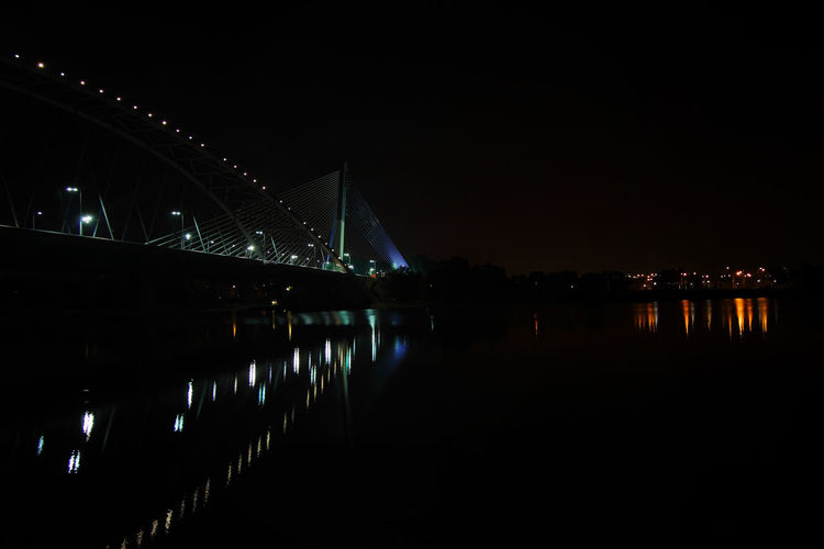 Architecture Bridge Bridge - Man Made Structure Building Exterior Built Structure City Connection Copy Space Illuminated Long Nature Night Nightlife No People Reflection River Sky Transportation Water Waterfront