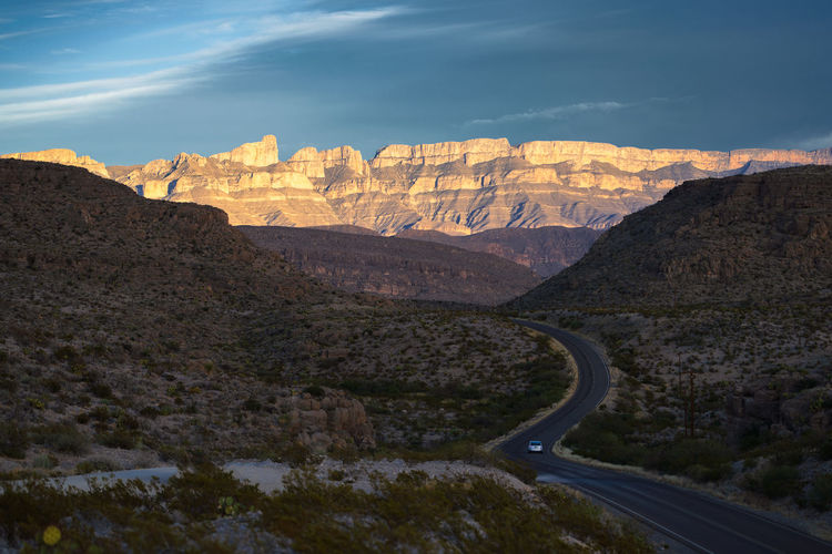 Scenic view of mountains against sky in big bend national park - texas