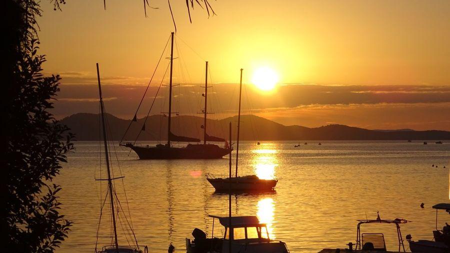 Sunset Sky Water Beauty In Nature Orange Color Scenics - Nature Sun