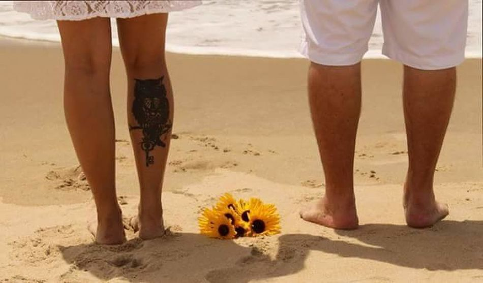 Sand Beach Human Body Part Low Section Vacations Outdoors Summer Women People Togetherness Adult Sand Dune Day Adults Only Wedding On The Beach
