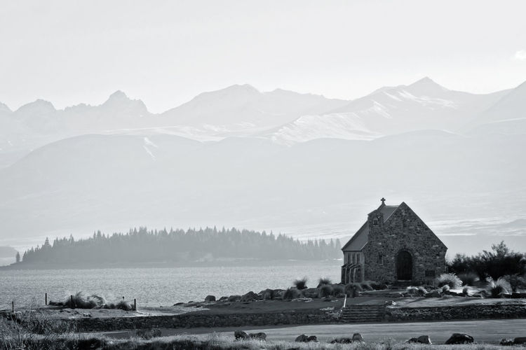 Good shepherd church, Lake Tekapo, New Zealand Architecture Architecture Architecture Photography Building Exterior Built Structure Mountain New Zealand Landscape Place Of Worship Religion The Architect - 2017 EyeEm Awards