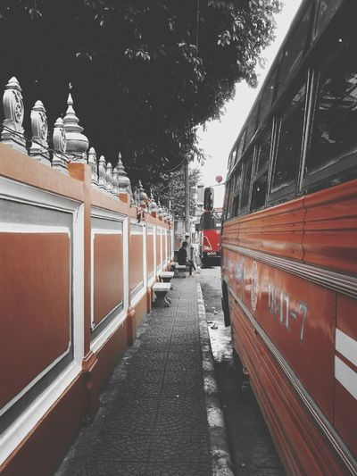 While i'm waiting the time to come back home by red bus Thailand Getting Inspired Colorsplash Bus