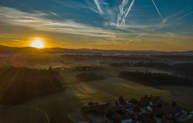 Sunrise Sunrise_sunsets_aroundworld Sunrise_Collection Sunrise And Clouds Sunrise - Dawn No People No Person Bavaria Bavarian Landscape Dawn Rural Scene Beauty Fog Agriculture Panoramic Summer