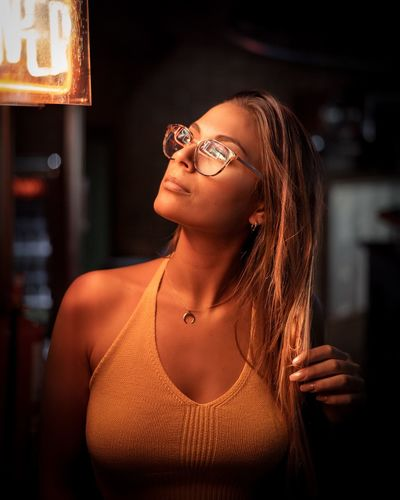 It´s all about light don´t you think? Comment below! One Person Glasses Portrait Lifestyles Adult Young Adult Headshot Indoors  Casual Clothing Real People Fashion Waist Up Hairstyle Clothing Women Eyeglasses  Looking Front View Leisure Activity Beautiful Woman