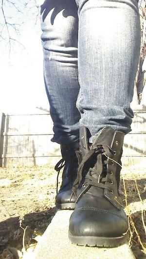 Boots❤ Combat Boots Black Black Boots Skinny Jeans