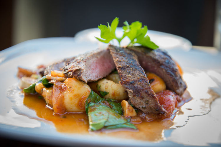 Lamb on Gnocchi Dinner Frenchfood Gourmet Delicious Beef Gnocchi Pasta Meat
