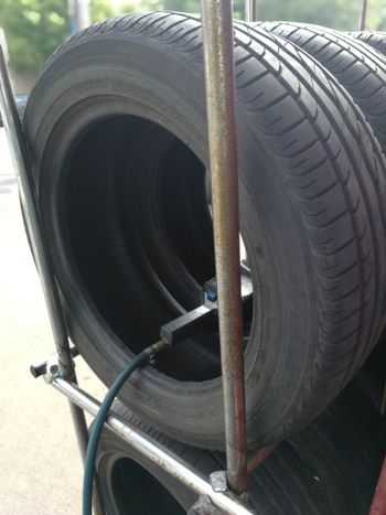 Tire Vehicle Part Wheel Rubber Close-up Automobile Industry Auto Mechanic Auto Repair Shop