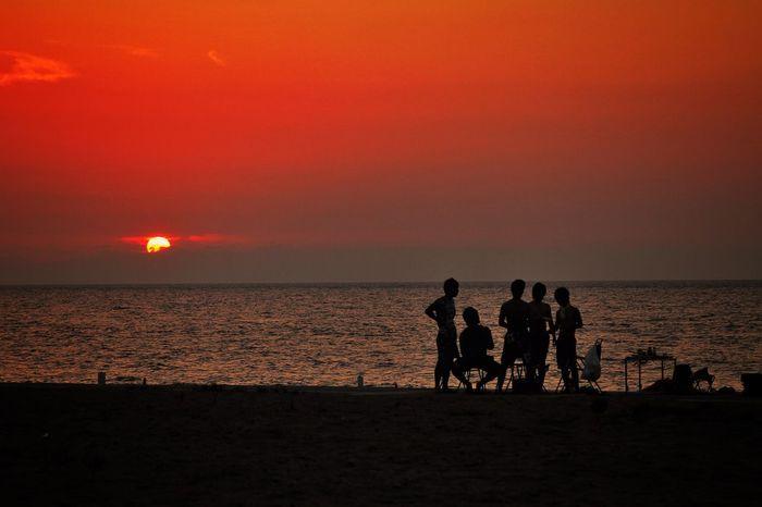 Sunset Nihonkai Japan Sea Summer Traveling Canon EOS 7D