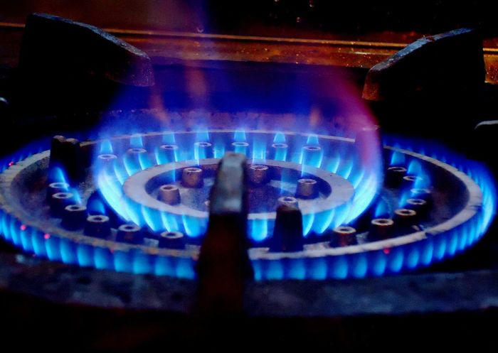 Gas fire Blue Burner - Stove Top Burning Close-up Fire Flame Fuel And Power Generation Gas Gas Fire Heat - Temperature Illuminated Indoors  Motion No People Stove