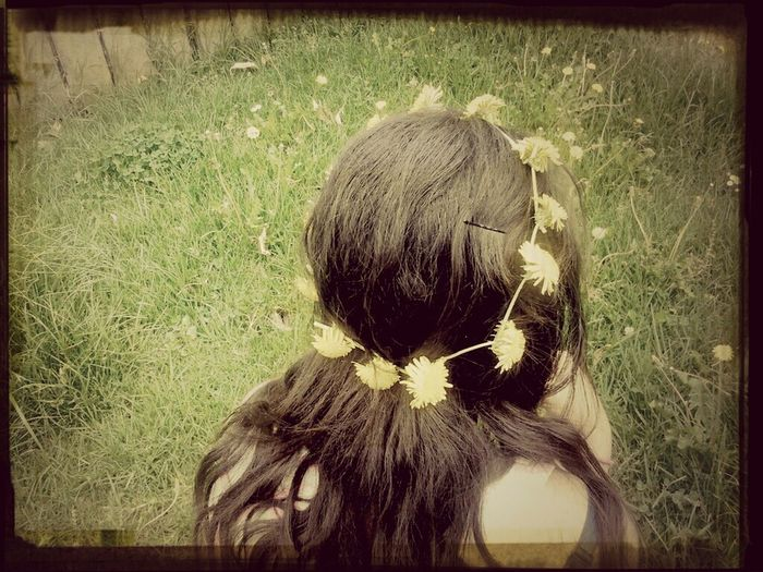 And th other sister. Flowers Summertime Daisy Chains  Having Fun