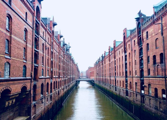 Hamburg Speicherstadt Port Canal Water Outdoors City No People Building Exterior Built Structure Day Travel Destinations Architecture