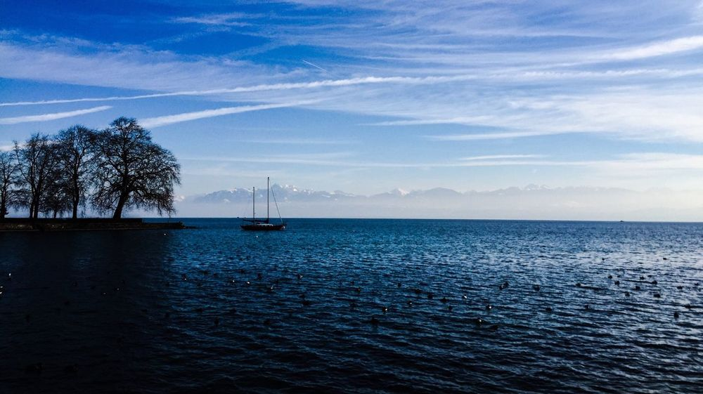 Leman Lake Switzerland IPhone Iphonephotography Iphone6 Blue