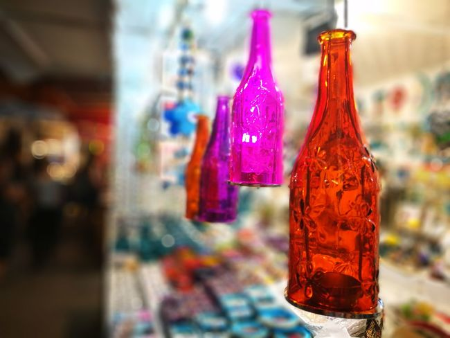 Bottle Drink Focus On Foreground Hanging Food And Drink Close-up Multi Colored No People Freshness Outdoors Day Ayvalik 🐚🐳🐬🏊 Ayvalık/cunda Turkey