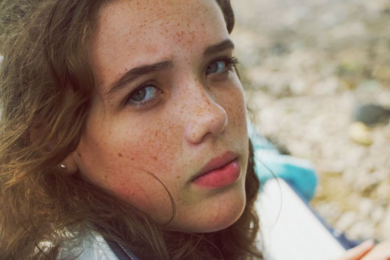 Not my idea of a picnic Portrait Headshot One Person Close-up Young Women Real People Young Adult Looking At Camera Leisure Activity Contemplation Outdoors Beauty Human Face
