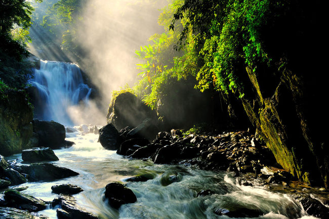 With plenty of natural negative ions, beautiful scenery and tranquil waterfalls, it is Wulai in Taiwan's new Taipei Cool Fresh Air Natural Negative Ions Wulai Beauty In Nature Day Forest Long Exposure Motion Nature No People Outdoors Power In Nature River Rock - Object Scenics Sky Tree Water Waterfall