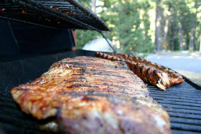 BBQ Focus On Foreground Bbq Ribs Bbqtime Grilling Grilled Meat Grill Grilled Ribs Maximum Closeness