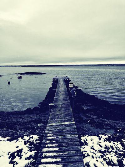Winter inn Rygge Water Horizon Over Water Pier Sea Beauty In Nature