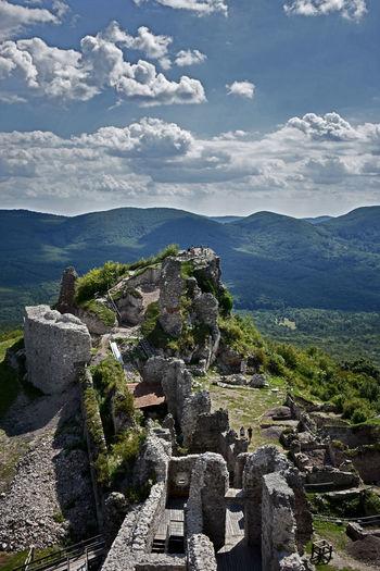 Castle Castle Of Regéc Regéci Vár Tree Mountain Aerial View Sky Landscape Architecture