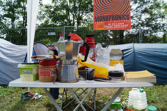 Auerworld Camping Chaos Coffee Day Festival No People Outdoors Snacks Table Tisch Tree Camp