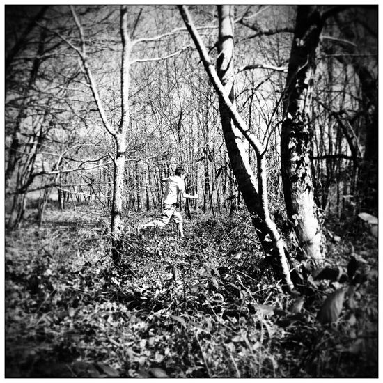 In The Forest Forest Run Runner Black & White Black And White Photography Blairwitch