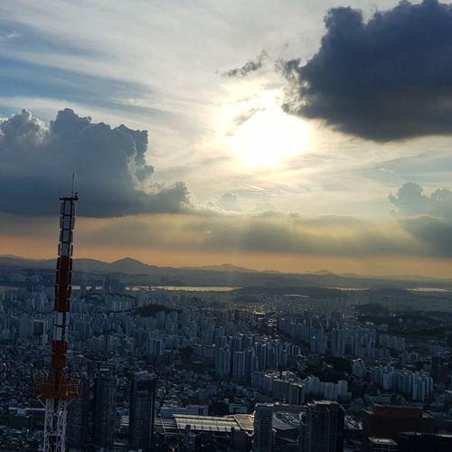 Sunset City Cityscape Cloud - Sky