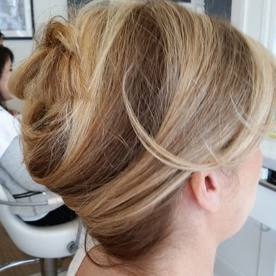 Another side of the Updo GrammyHair2015 Blondehairdontcare InspirationPhoto hairstylist blowdry hairstyle hairblogger