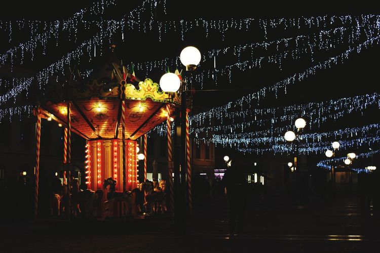 Childhood. Carnival Friends Childhood Venicecarnival February Cold Temperature Wintertime Wintercarnival Wine&friends Colors Light Nightlight Nightphoto Hanging Entertainment Tent Circus Amusement Park Fairy Lights Hanging Light