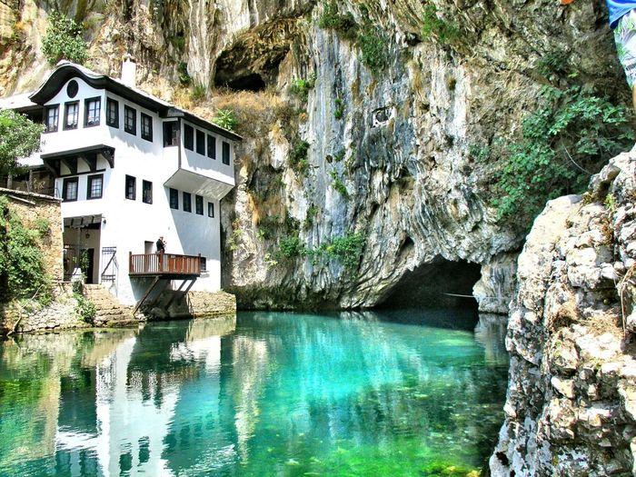 Blagaj Bosnia And Herzegovina Tekija Water Source Green Nature Relaxing Taking Photos Enjoying Life Beautiful View