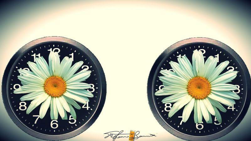 The OO Mission Time Two Is Better Than One Compositions Overlapping Clock Flower Time Z3 Xperia Showcase July