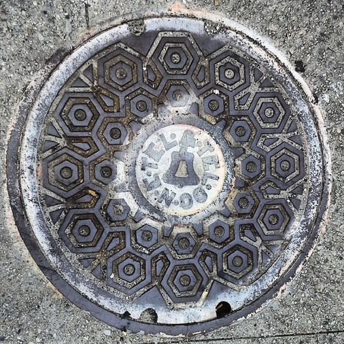 Bell Bell Circulove Circular Circlesnsquares circles rounds instagramer ig_captures insta_shoot insta_shoot photooftheday photoshare power_group streetshot streetalma manhole manholecover Providence RhodeIsland