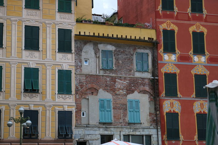 Arcade Arch Architectural Feature Architecture Building Exterior Chiavari City City Life Colors Of Italy Couleur Façade Historic Italy Jour De Marché Liguria Mercatino Puzzle  Town Hall