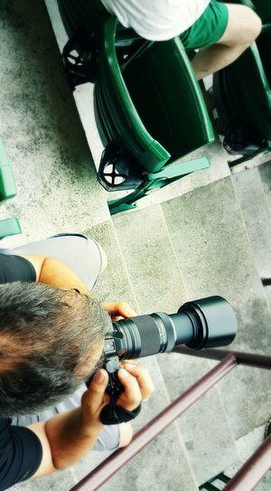 Shooting the play Life Imitating Art Pawsox Baseball Rhode Island Photography EyeEm EyeEm Best Shots - People + Portrait + ⚾ EyeEm Gallery Pawtucket, Rhode Island ⚓ Red Sox Nation Game Day Looking Down