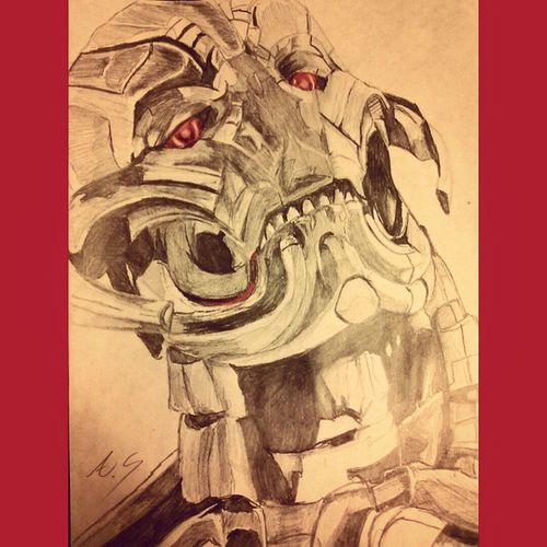 Their are no strings on me AgeOfUltron Ultron Marvel ArtWork Sketch GeekyAlexxArt Avengers Art Marvelcomics JamesSpader Sopumped Trailers1 Mcu May1 Ultronprime Excited Movies Comics Drawing Paper Doddle Nostrings Disney Badass Villians menacing prisma shadingpencil evil comics avengers2