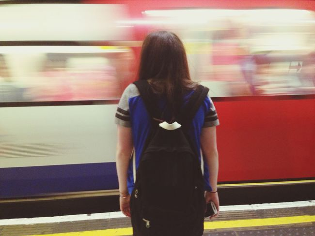 Rush || RePicture Travel Taking Photos Commute Eyeemphotography Train Station Ealing Mobility In Mega Cities