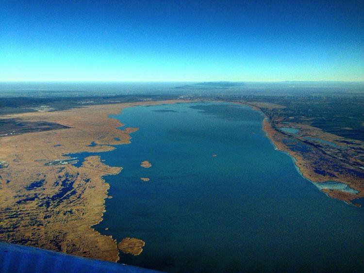 From An Airplane Window Neusiedler Lake - Austria