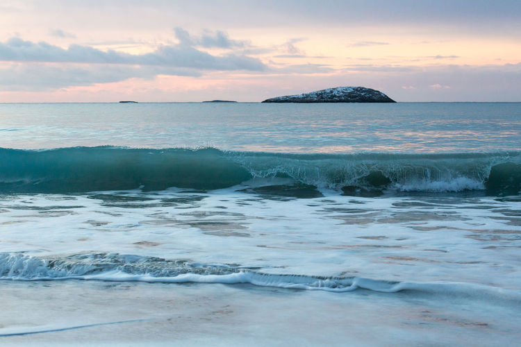 Photography In Motion Beach Coastline Holiday Horizon Over Water Island Ocean Outdoors Pastel Pastel Colors Pastel Power Rippled Rock Rock Formation Scenics Sea Seascape Shore Turquoise Vacations Voyage Water Wave Northern Norway The Great Outdoors - 2016 EyeEm Awards