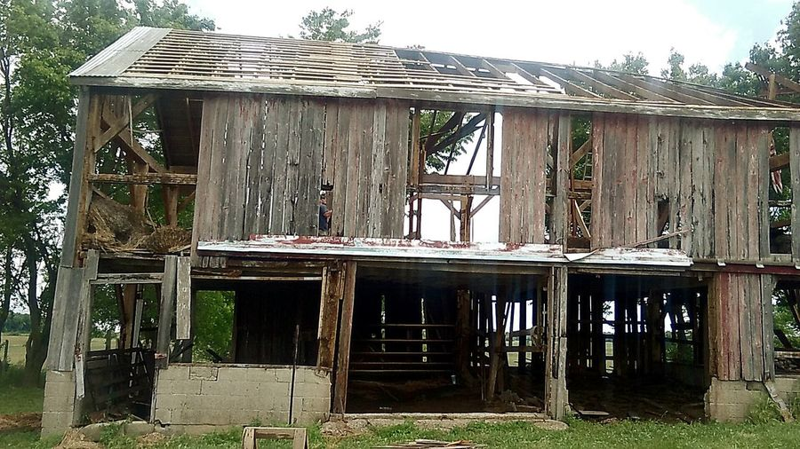 Old Barn Delapidated Structure Hand Hewn Beams Salvaging