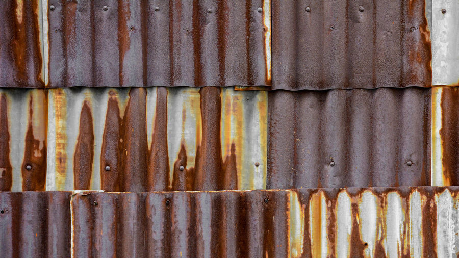 Metal Corrugated Iron Sheet Old Background Texture Fence Roof Galvanized Steel Color Rust Vintage Wall Panel Architecture Tin Zinc Pattern Urban Material Surface Row Garage Wallpaper Brown Grunge Detail Industry Striped Vertical Silver  Exterior LINE Metallic Weathered Damage Scratched Wave Brown