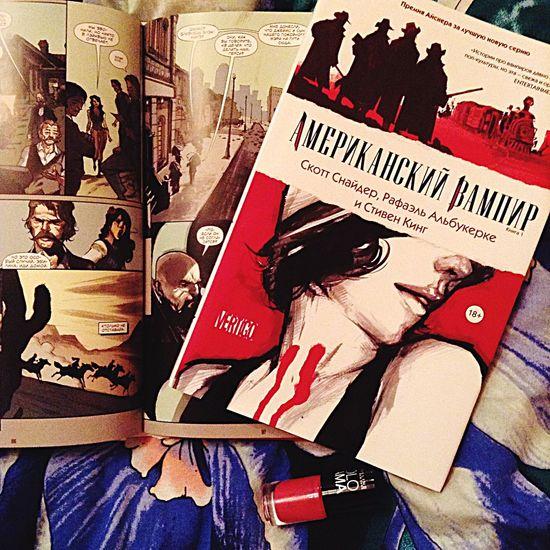 Скотт снайдер Рафаэль альбукерке американский вампир комикс графический роман я в восторге читаю Steven King American Vampire I Like It