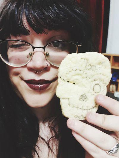 Portrait of woman with ice cream