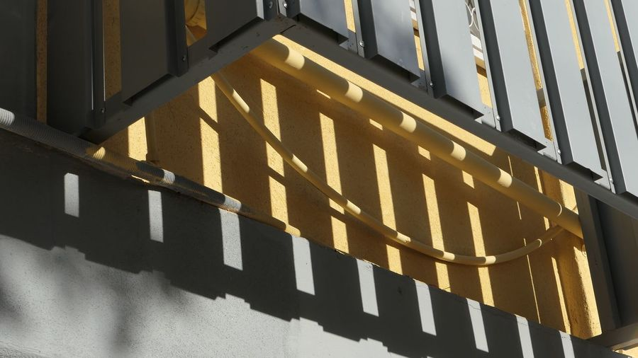 Yellow Shadow Sunlight Architecture Building Exterior Built Structure No People Day Safety City Outdoors Security Protection