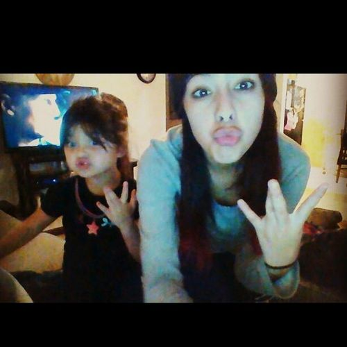 my little cousin and I Oldpicture Westside Ducklipssss❤ Littlecousin