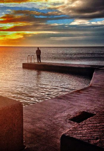IPhoneography Landscape Seascape Sea And Sky Seascape Sunset Beach Lonely fisherman Piran Pirano