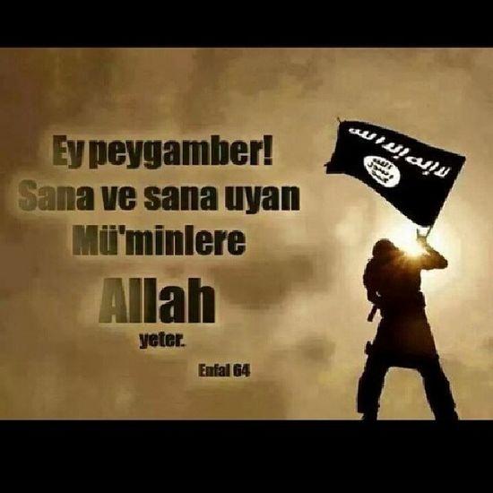Ey Peygamber! Sana ve sana uyan mü'minlere Allah yeter! Sure Enfal 64 Allah MuhammedMustafasav allahyolununyolcuları din islam alhamdulillah muslim prophet hakk Lailahaillallah AllahuAkbar