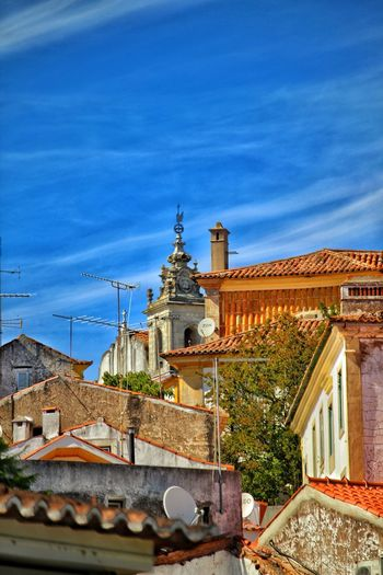 roofs Constância,Potugal Tower City Astronomy Sky Architecture Building Exterior Built Structure Roof Tile