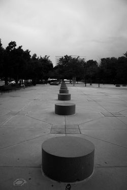 Absence Art Blackandwhite Cement Circles Day Distance Empty Nature No People Outdoors Sky Tranquility Streetphotography Street Photography Downtown Denver Colorado