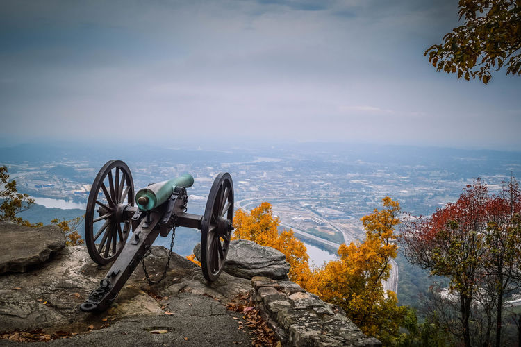 Cannon Overlooking Countryside Landscape