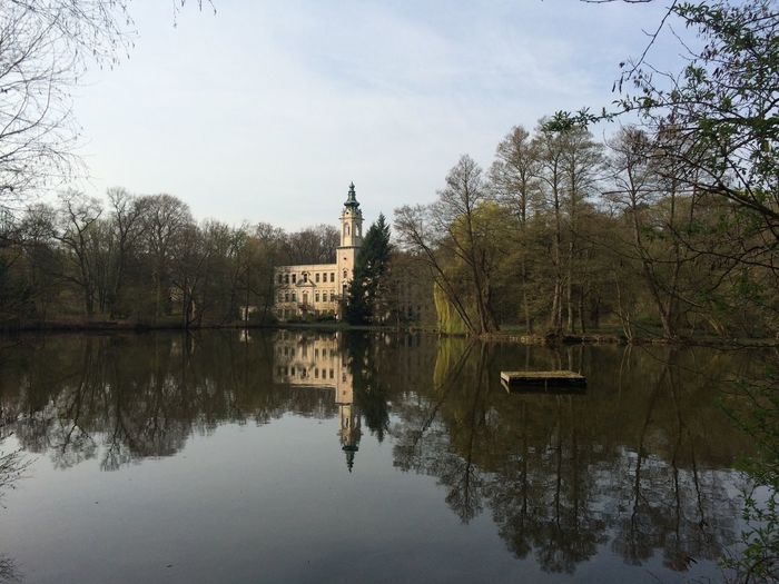 Mühlebeckersee Day Sky And Clouds Trees Forrest Castle Lake View Architecture Beauty In Nature