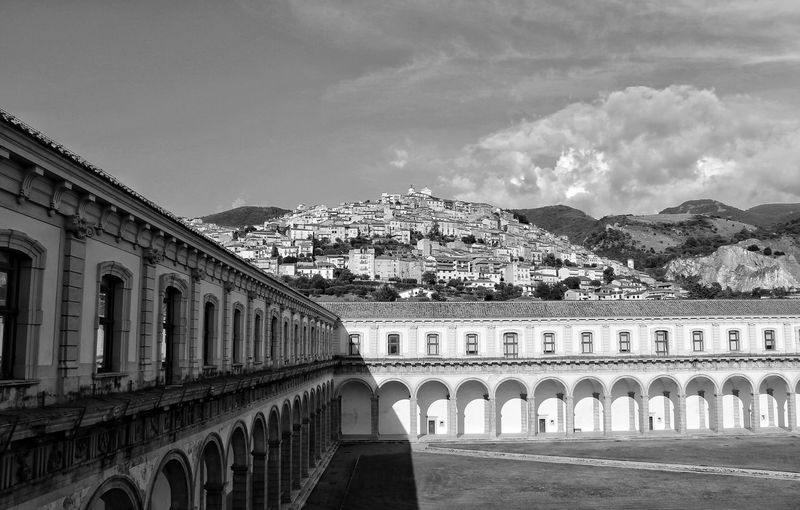 Certosa di Padula , Italy Premium Collection Selected For Premium Bnw_friday_eyeemchallenge Certosa Di Padula EyeEm Best Shots EyeEmNewHere Eye4photography  Blackandwhite City Arch History Sky Architecture Building Exterior Built Structure Ancient The Past Historic Historic Building